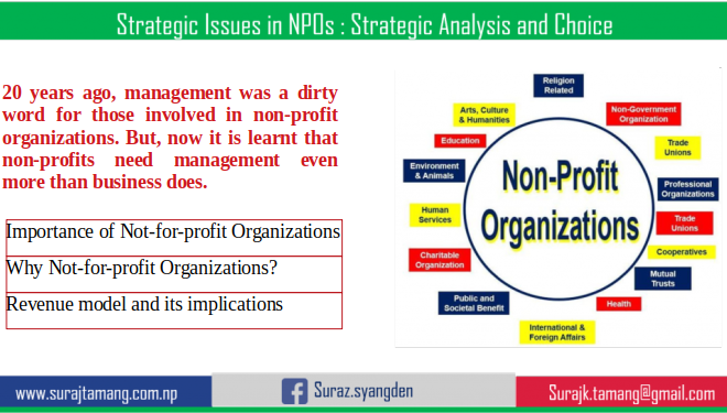 Strategic Issues in Not-for-profit Organizations: Strategic Analysis and Choice