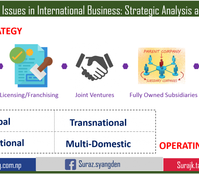 Strategic Issues in International Business : Strategic Analysis and Choice